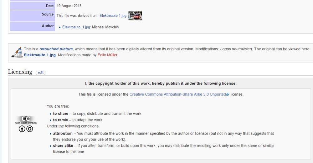 Licence for blog image